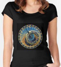 Astronomical Clock-Prague Orlog Women's Fitted Scoop T-Shirt