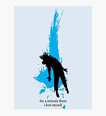 """""""For a minute there, I lost myself"""" - Radiohead - dark Photographic Print"""