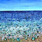 Rough Sands, acrylic and glass with mixed media on sealed wood panel by Regina Valluzzi