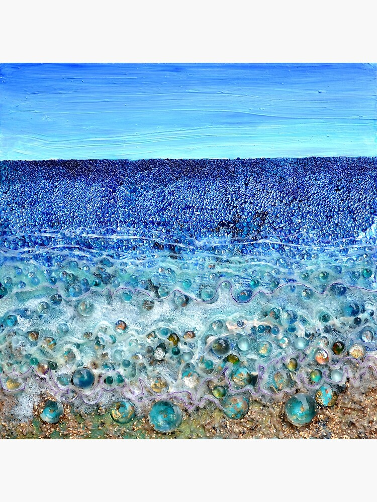 Rough Sands, acrylic and glass with mixed media on sealed wood panel by rvalluzzi