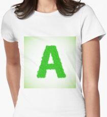 grass letter Women's Fitted T-Shirt