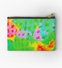 Colorful Abstract Watercolor Painting Background Studio Pouch