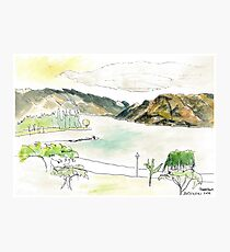 sketch_lake wakitapu nz Photographic Print