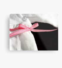 pink bow Metal Print