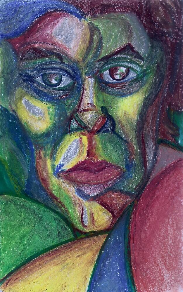 Masculine (Mixed Media)- by Robert Dye