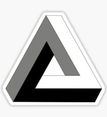 Penrose Triangle, Impossible Triangle Sticker