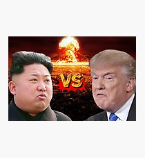 Donald Trump VS Kim Jong Un Photographic Print