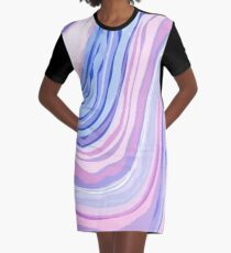 Purple Marble Graphic T-Shirt Dress