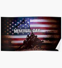 Memorial Day Iwo Jima Memorial Poster