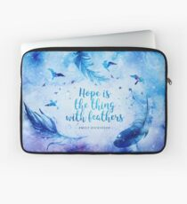 Hope is the thing with feathers Laptop Sleeve