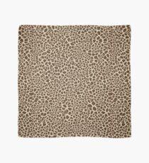 Giraffe Skin Pattern Design. Cracked Brown and Tan Texture Scarf