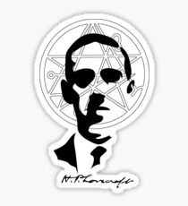 H.P. Lovecraft with Sigil Of The Gateway Sticker