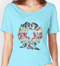 BRITAIN WOLF LOVE Women's Relaxed Fit T-Shirt