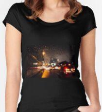 Rainy window Women's Fitted Scoop T-Shirt