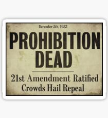 Prohibition Dead Newspaper Headline Sticker