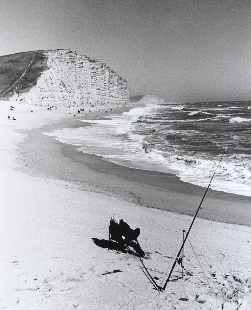"""""""man fishing"""" - West Bay , Dorset by Montevideo"""