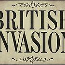 British Invasion Historical Newspaper Headline by mindydidit