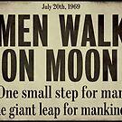 Men Walk on Moon 1969 Newspaper by mindydidit