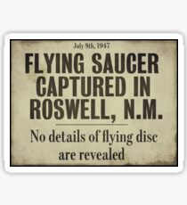 Roswell New Mexico Flying Saucer  Sticker