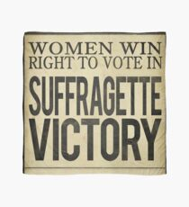 Suffragette Victory Women's Right to Vote Scarf