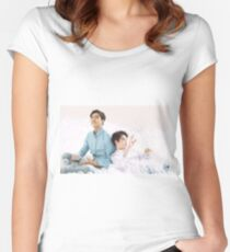 Sehun & Suho  Women's Fitted Scoop T-Shirt