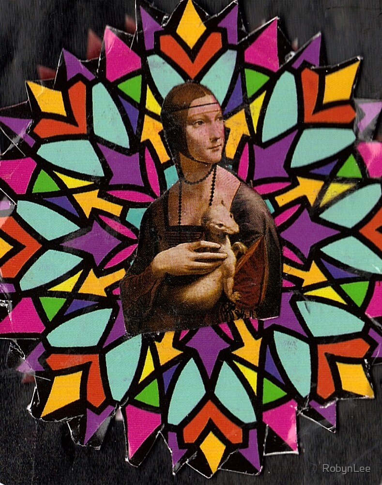 Stained Glass DaVinci by RobynLee
