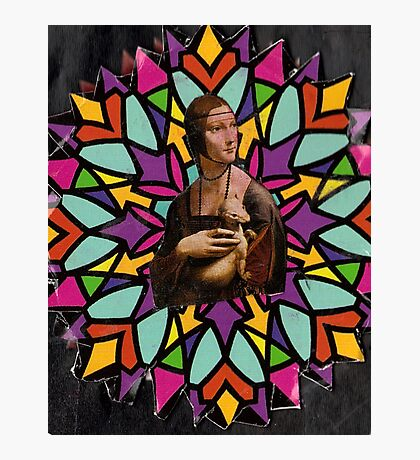 Stained Glass DaVinci Photographic Print