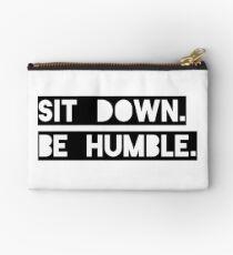 """Sit Down. Be Humble."" Kendrick Lamar Lyric Studio Pouch"