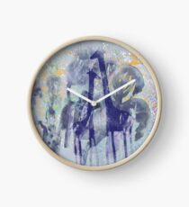 giraffes and trees Clock