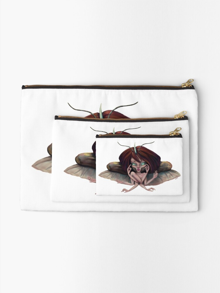 Alternate view of Giant Horned Beetles Have Many Talents Zipper Pouch