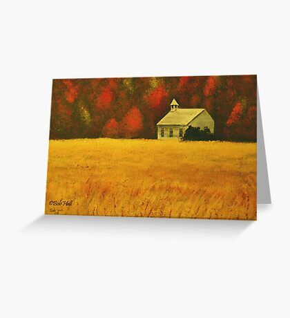 MOUNTAIN AUTUMN, Acrylic Painting, for prints and products Greeting Card