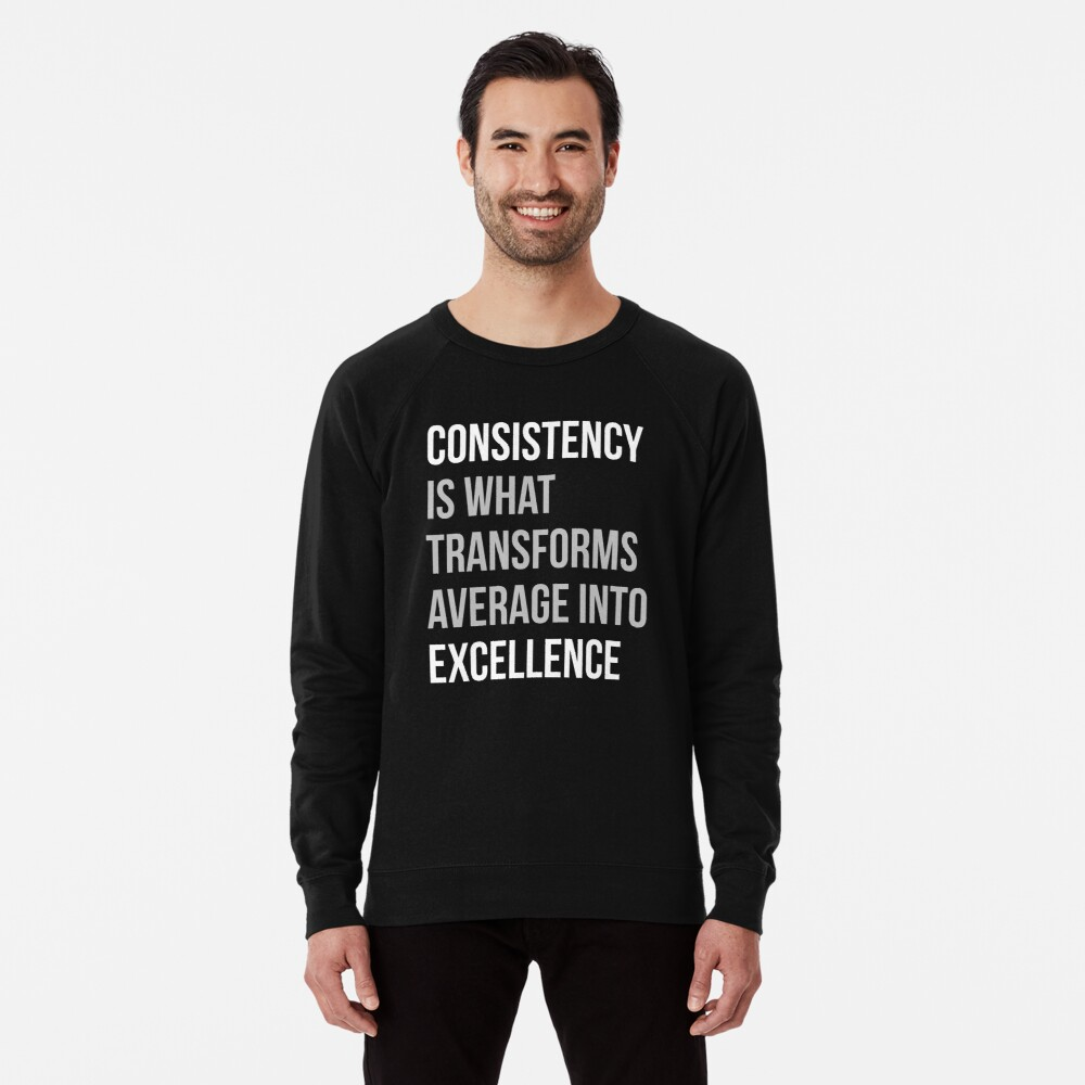 Konsistenz ist, was sich in Excellence verwandelt Leichter Pullover