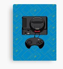 Retro Black 16-bit Warrior Canvas Print