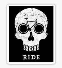 Bike Skull RIDE  Sticker