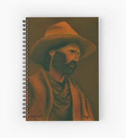 TENNESSEE SODBUSTER, Pastel Painting, for prints and products Spiral Notebook