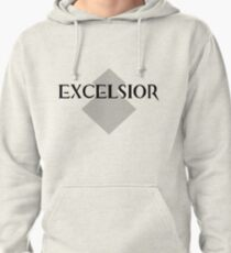 Excelsior White Pullover Hoodie