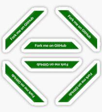 Fork me on Github Ribbon Green (Hexa, Extra Small, Phone) Sticker