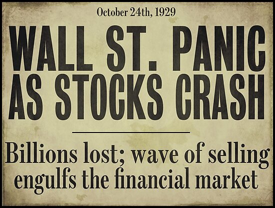 Image result for wall street crash 1929 headlines