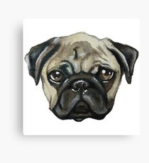 Love Pug Canvas Print