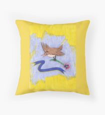 Mother's Day Inspired Bird Throw Pillow