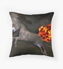 Flaming Ass Throw Pillow