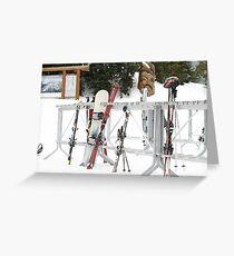 Ready to Ski Greeting Card