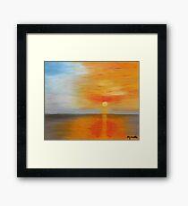 Ciel flamboyant - Blazing sky Impression encadrée