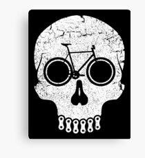 Bike Skull (No Text) Canvas Print