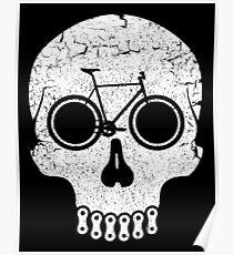 Bike Skull (No Text) Poster
