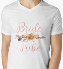 Bride Tribe Rose Gold Floral Arrow T-Shirt
