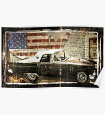You Can Drive II Vintage Car Poster