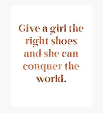 Rose gold shoe love Photographic Print