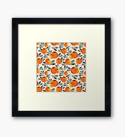 Sonnige Orange Framed Print