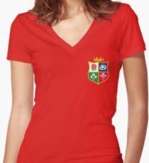 British and Irish Lions Logo Women's Fitted V-Neck T-Shirt